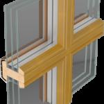 Energooszczędne Okna Drewniane THERMO 80 - konstrukcyjne