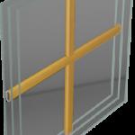 Energooszczędne Okna Drewniane THERMO 80 - wewnątrzszybowe
