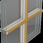 Energooszczędne Okna Drewniano-Aluminiowe THERMO 80 ALU - wiedeńskie naklejane