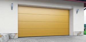 Brama garażowa segmentowa – okleinowany panel DK-OP