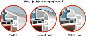 Okno PCV Brugmann 73 rodzaje listew przyszybowych