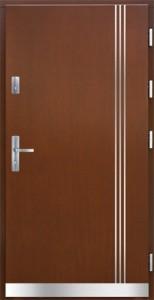 Drzwi zewnętrzne płytowe Pasywne PA Łódź Świat Okien - wzór Pasywne1