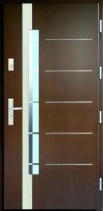 Drzwi zewnętrzne płytowe WP Exlusive Łódź Świat Okien - wzór WP16aINOX