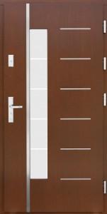 Drzwi zewnętrzne płytowe WP Exlusive Łódź Świat Okien - wzór wp11inox