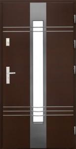 Drzwi zewnętrzne płytowe WP Exlusive Łódź Świat Okien - wzór wp15inox3d