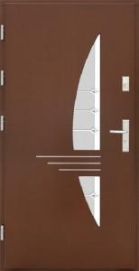 Drzwi zewnętrzne płytowe WP Exlusive Łódź Świat Okien - wzór wp17inox