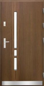 Drzwi zewnętrzne płytowe WP Exlusive Łódź Świat Okien - wzór wp18zebrano
