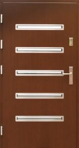 Drzwi zewnętrzne płytowe WP Exlusive Łódź Świat Okien - wzór wp2inox