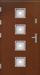 Drzwi zewnętrzne płytowe WP Exlusive Łódź Świat Okien - wzór wp4inox