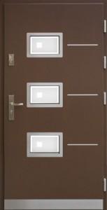 Drzwi zewnętrzne płytowe WP Exlusive Łódź Świat Okien - wzór wp7inox