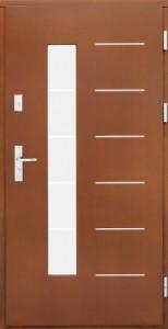 Drzwi zewnętrzne płytowe ZP Łódź Świat Okien - wzór zp11inox