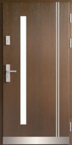 Drzwi zewnętrzne płytowe ZP Łódź Świat Okien - wzór zp13binox