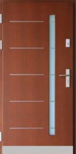 Drzwi zewnętrzne płytowe ZP Łódź Świat Okien - wzór zp14inox