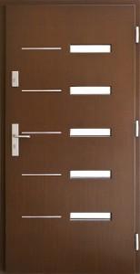 Drzwi zewnętrzne płytowe ZP Łódź Świat Okien - wzór zp1inox3