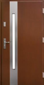 Drzwi zewnętrzne płytowe ZP Łódź Świat Okien - wzór zp8inox