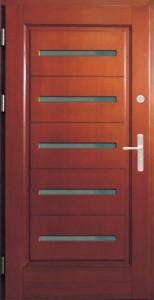 Drzwi zewnętrzne ramiakowo płycinowe Łódź Świat Okien - wzór16a