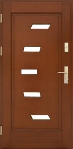 Drzwi zewnętrzne ramiakowo płycinowe Łódź Świat Okien - wzór31