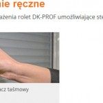 Rolety nadprożowe - STEROWANIE RĘCZNE - Łódź Świat Okien