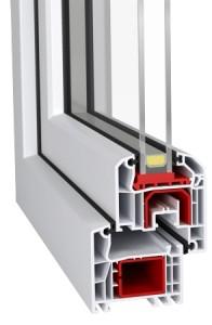 Okno PCV Ideal 4000 niezlicowany