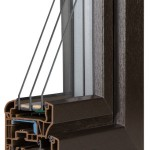 okno PCV Schuco - jesień cava z szybą Ug=0,5 Wm2K