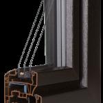 okno PCV Schuco - jesień cava z szybą Ug=0,7 Wm2K