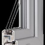okno PCV Schuco - jesień classic z szybą Ug=0,7 Wm2K
