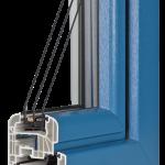 okno PCV Schuco - jesień rondo z szybą Ug=0,7 Wm2K