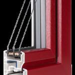 okno PCV Schuco - wiosna cava z szybą Ug=0,5 Wm2K
