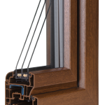 okno PCV Schuco - wiosna cava z szybą Ug=0,7 Wm2K