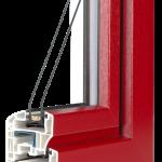 okno PCV Schuco - wiosna cava z szybą Ug=1,1 Wm2K
