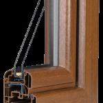 okno PCV Schuco - wiosna rondo z szybą Ug=1,1 Wm2K