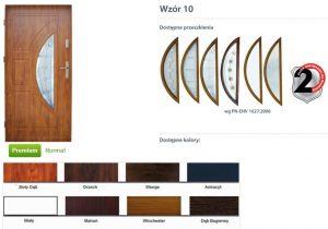 WIKĘD Drzwi zewnętrzne stalowe wzór - 10