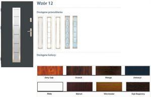 WIKĘD Drzwi zewnętrzne stalowe wzór - 12
