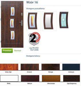 WIKĘD Drzwi zewnętrzne stalowe wzór - 16