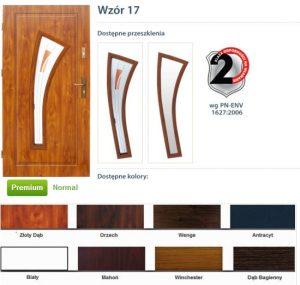 WIKĘD Drzwi zewnętrzne stalowe wzór - 17