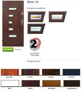 WIKĘD Drzwi zewnętrzne stalowe wzór - 18
