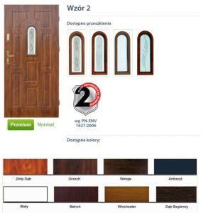 WIKĘD Drzwi zewnętrzne stalowe wzór - 2