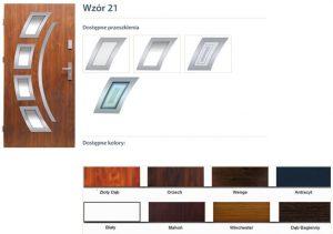 WIKĘD Drzwi zewnętrzne stalowe wzór - 21