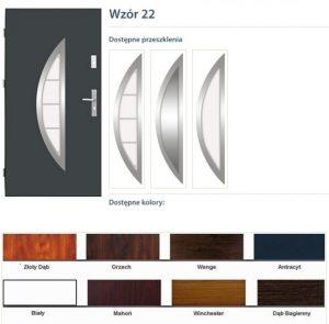 WIKĘD Drzwi zewnętrzne stalowe wzór - 22