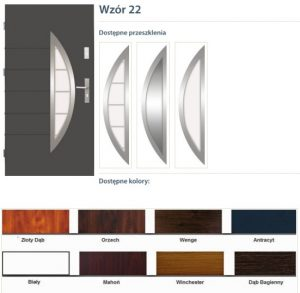 WIKĘD Drzwi zewnętrzne stalowe wzór - 22B