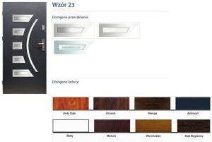 WIKĘD Drzwi zewnętrzne stalowe wzór - 23