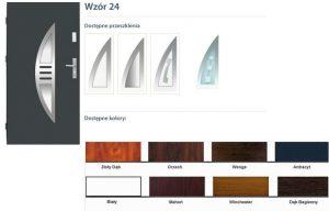 WIKĘD Drzwi zewnętrzne stalowe wzór - 24