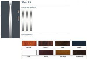 WIKĘD Drzwi zewnętrzne stalowe wzór - 25