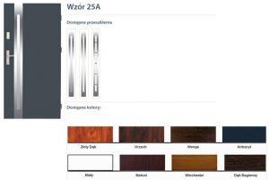 WIKĘD Drzwi zewnętrzne stalowe wzór - 25A