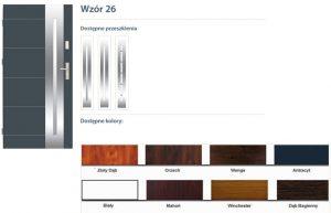 WIKĘD Drzwi zewnętrzne stalowe wzór - 26