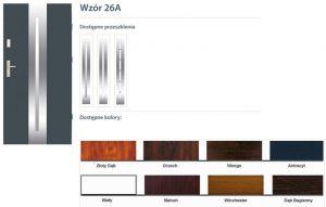 WIKĘD Drzwi zewnętrzne stalowe wzór - 26A