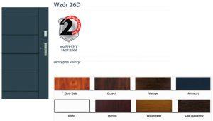 WIKĘD Drzwi zewnętrzne stalowe wzór - 26D