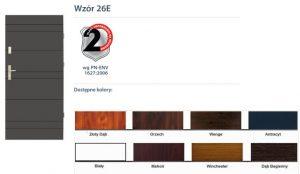 WIKĘD Drzwi zewnętrzne stalowe wzór - 26E