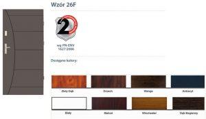 WIKĘD Drzwi zewnętrzne stalowe wzór - 26F