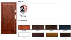 WIKĘD Drzwi zewnętrzne stalowe wzór - 27